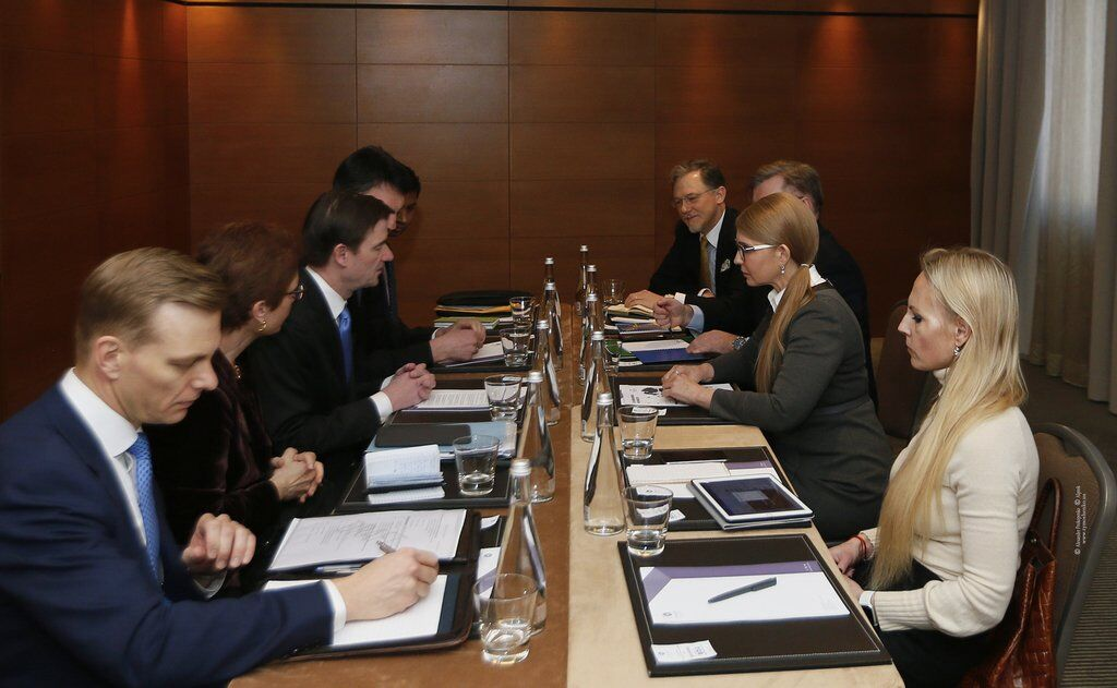 Юлія Тимошенко на зустрічі з Девідом Гейлом