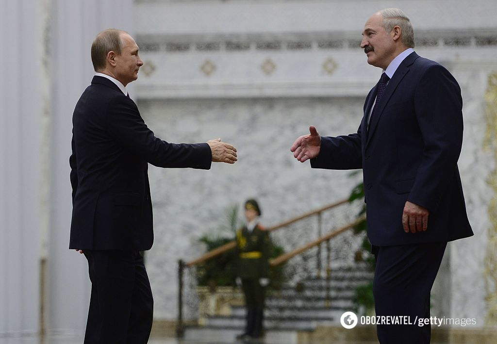 Володимир Путін і Олександр Лукашенко