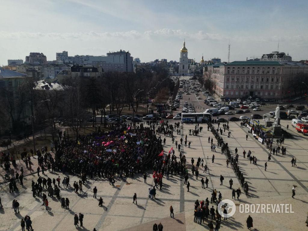 В Киеве на марше феминисток произошли стычки: фото