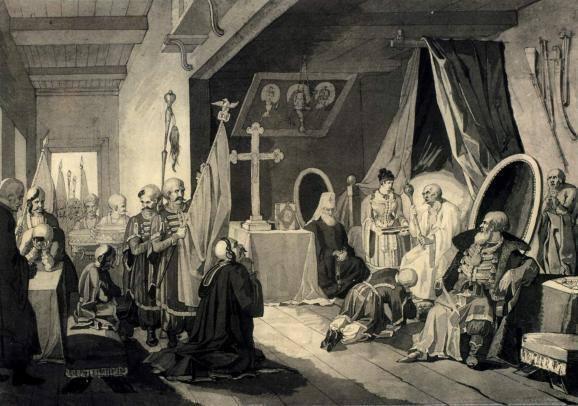 """""""Смерть Богдана Хмельницького"""" (1836-1837 рр.)"""