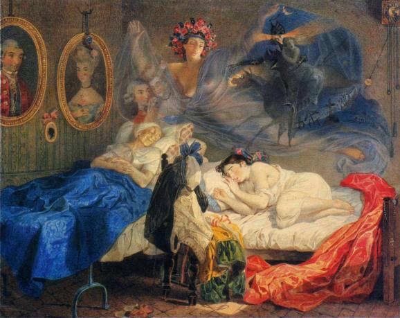 """""""Сон бабусі та онучки"""" (1840 р.)."""