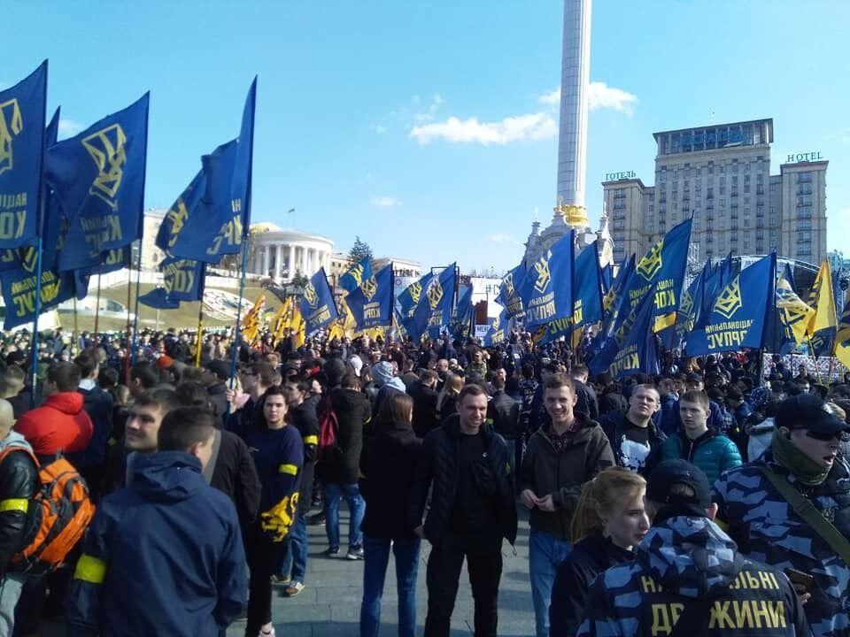 У Києві і Черкасах сталися зіткнення Нацкорпусу і поліції