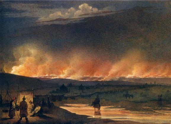 """""""Пожежа в степу"""" (1848 р.)."""