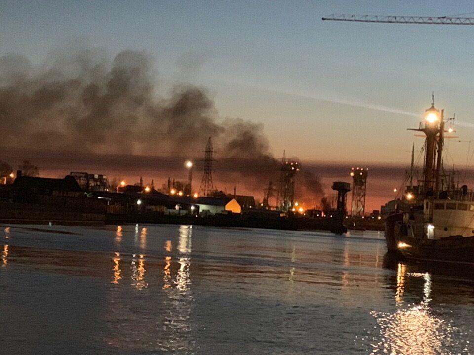 Пожар в Калининграде