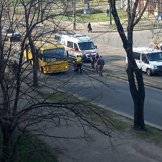 Маршрутка сбила пешехода