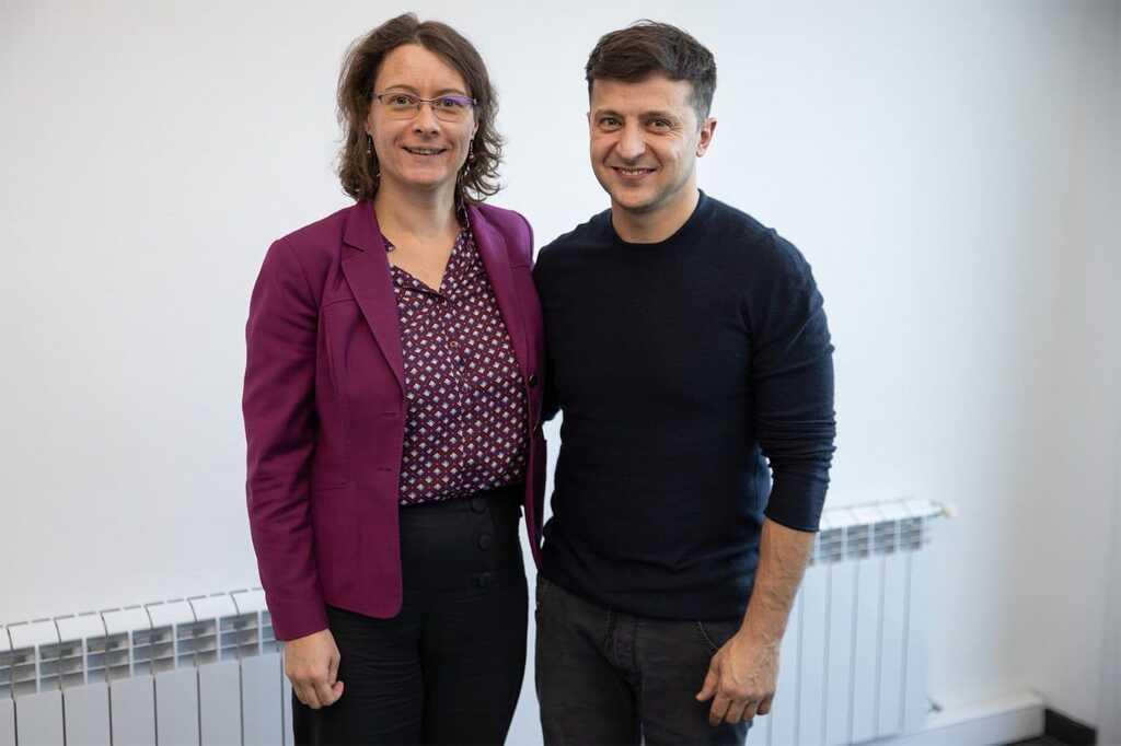 Изабель Дюмон и Владимир Зеленский