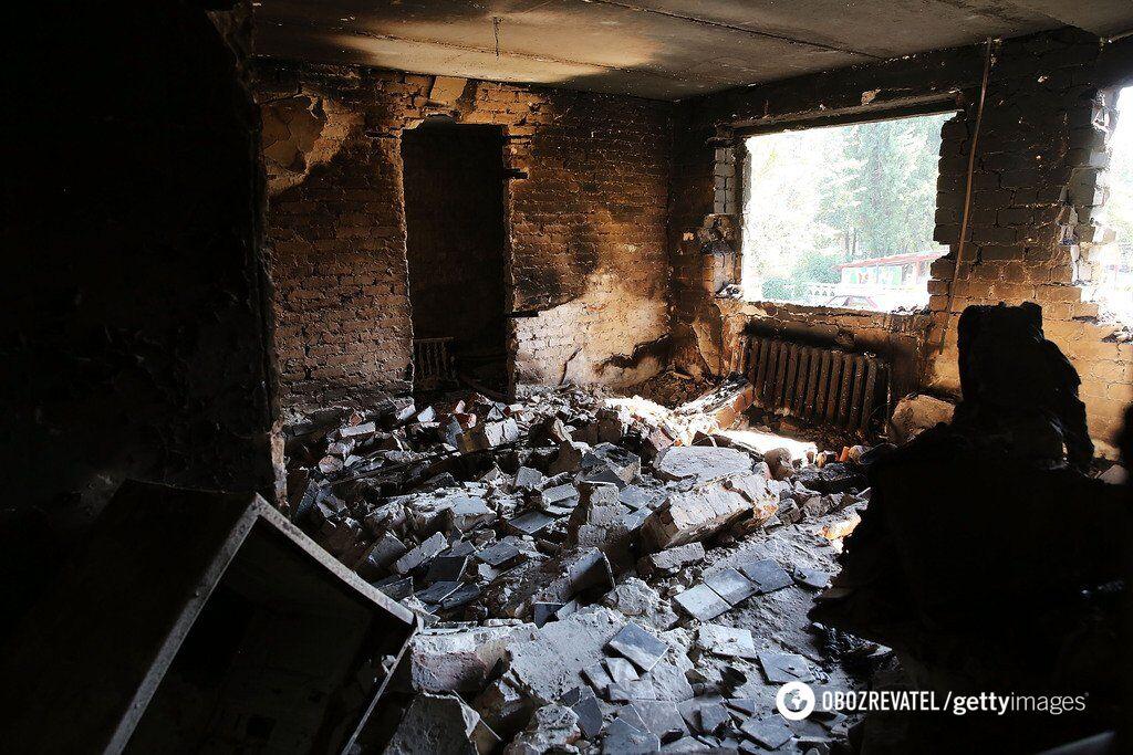Руйнування в Іловайську