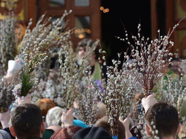 В Вербное воскресенье вспоминают, как Иисус въезжал в Иерусалим