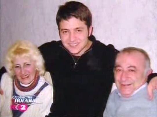 Зеленський з батьками Риммою Володимирівною і Олександром Семеновичем