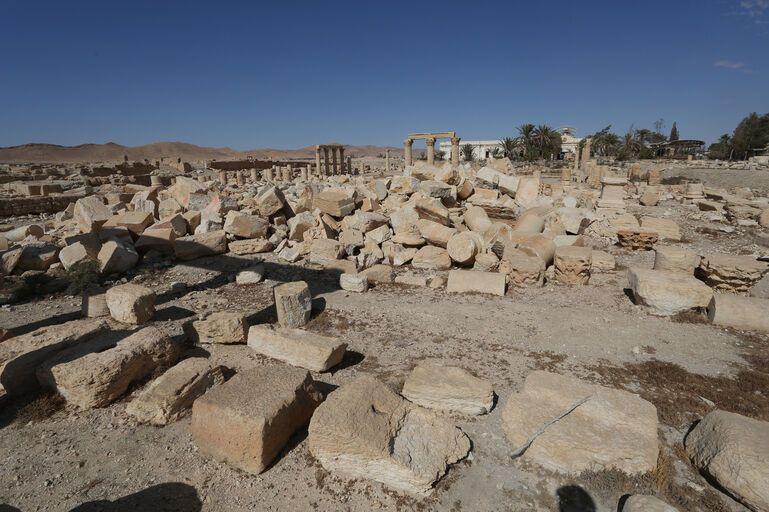 Храм Баалшамина после разрушения