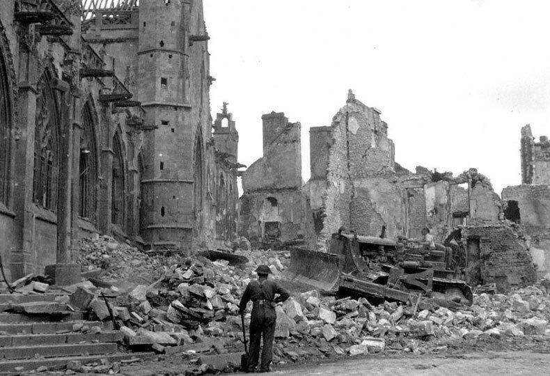 Разрушения в Сен-Жерве