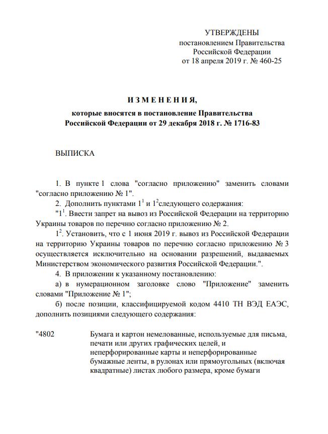 Россия ввела новые жесткие санкции против Украины