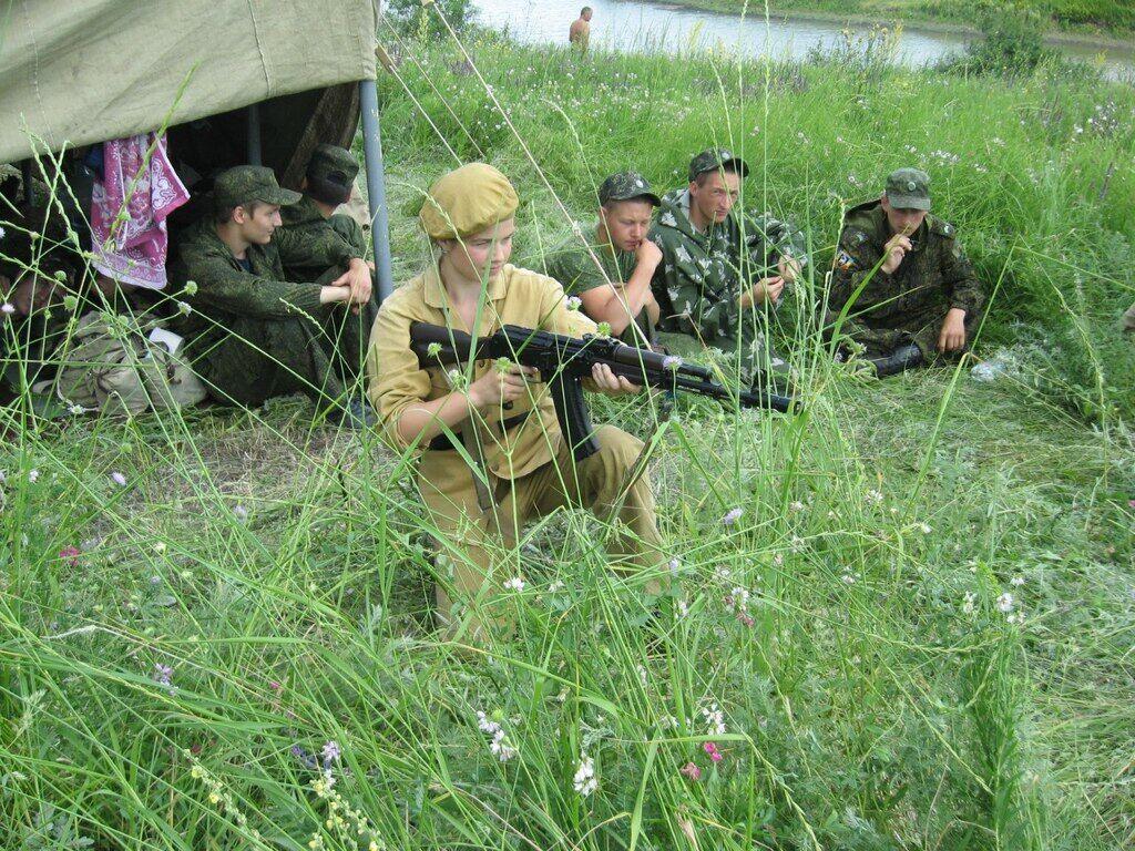 """""""Амазонки"""" на сборах """"Выживание в боевых условиях"""