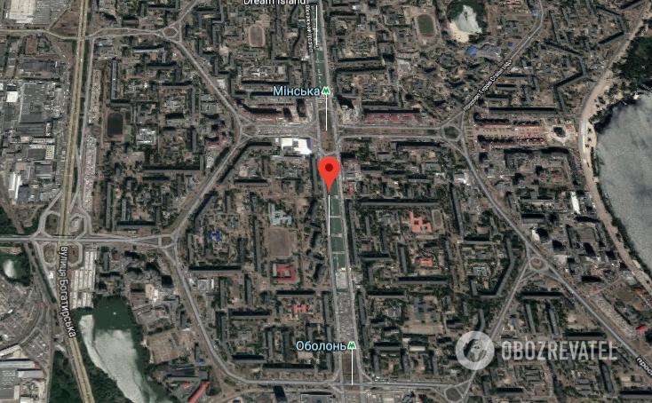 ДТП произошло на Оболонском проспекте