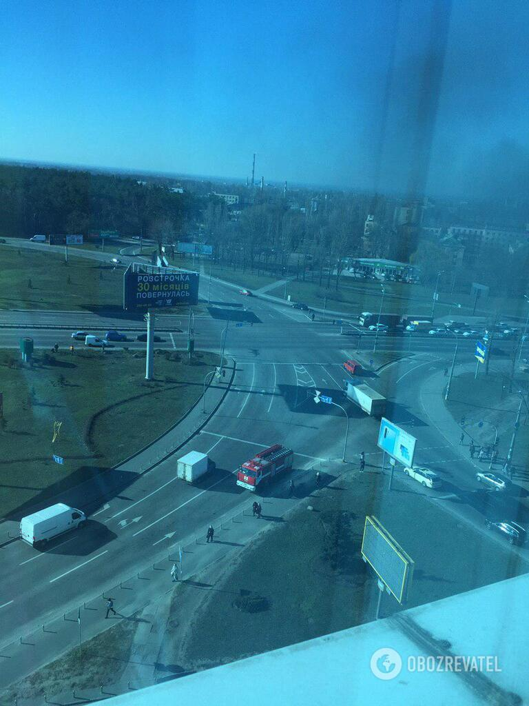 Пожар на Харьковском шоссе