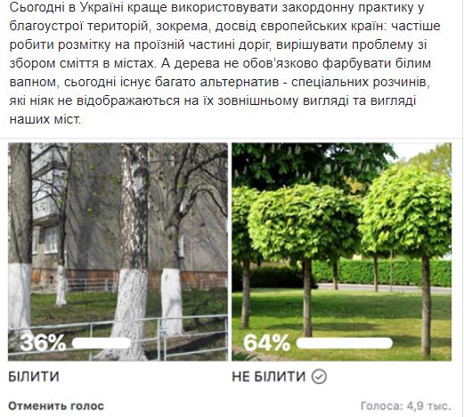 """""""Совок"""" и безвкусица"""": в Украине призвали отказаться от побелки деревьев"""