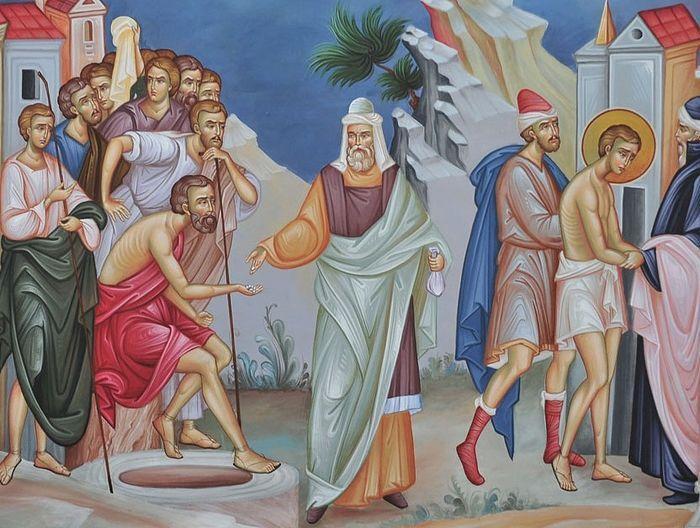Братья продают Иосифа в рабство