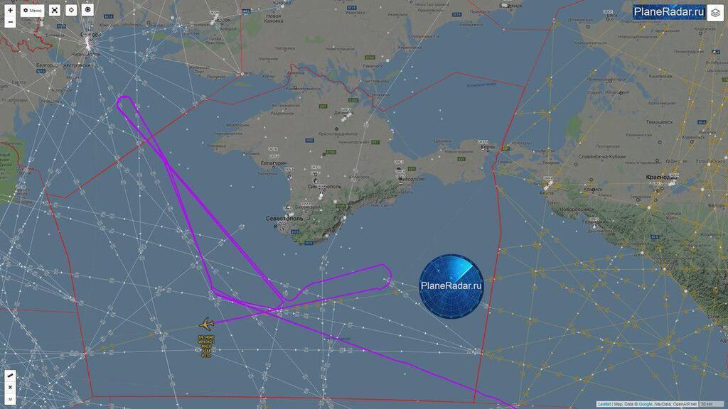 Карта переміщення літака