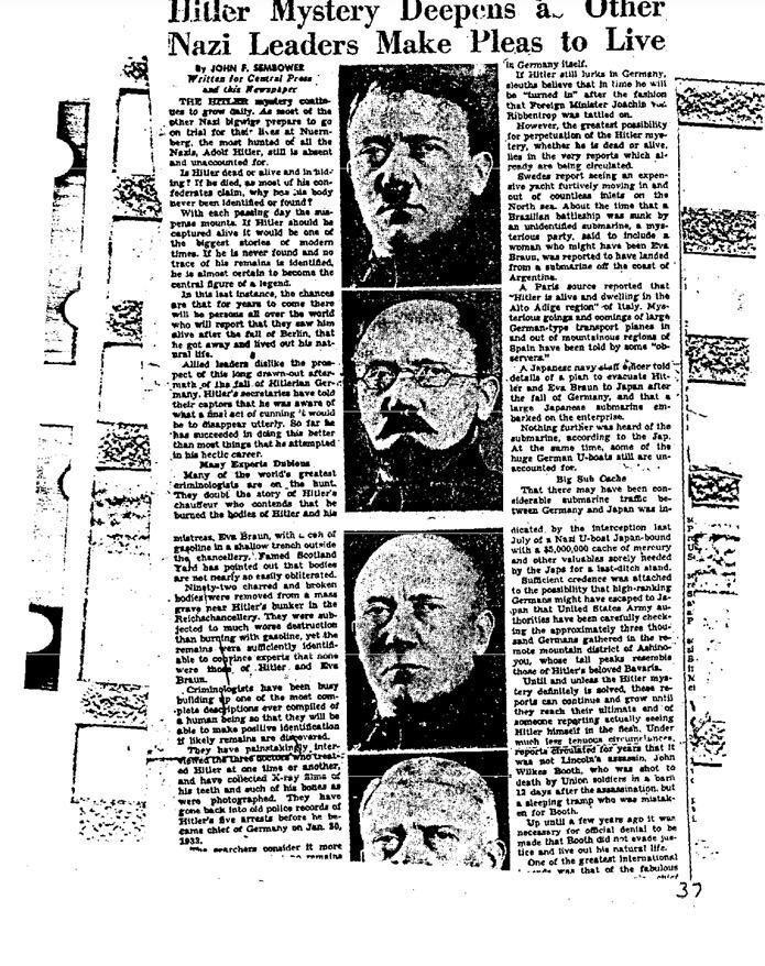 Гітлер втік: ФБР розсекретило документи