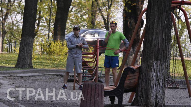 Володимир Зеленський у Маріїнському парку