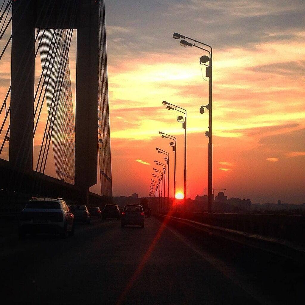 В сети показали невероятный закат в Киеве