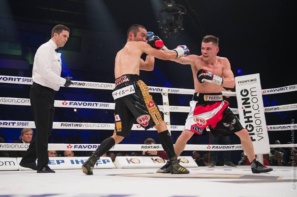 Денис Берінчик у бою проти Ніхіто Аракави