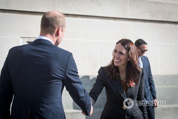 Принц Вільям і Джасінда Ардерн