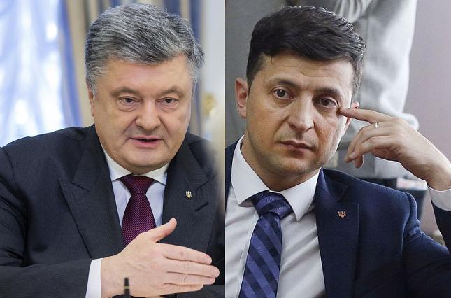 Участники второго тура выборов Петр Порошенко и Владимир Зеленский