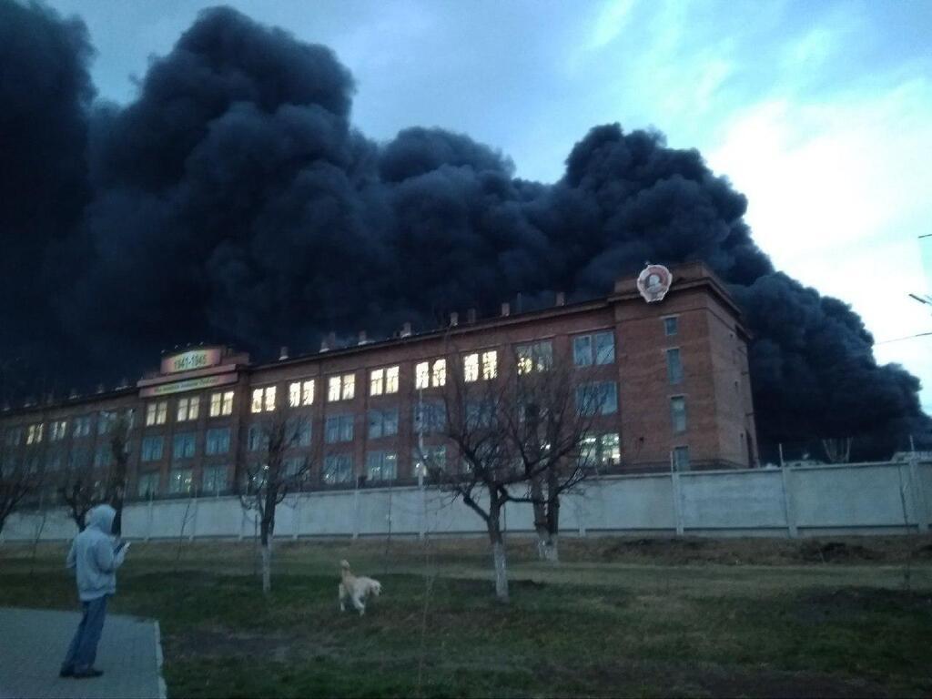 В России вспыхнул известный ракетный завод