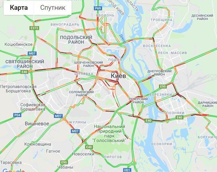 Київ завмер у серйозних заторах
