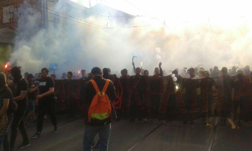 Марш фанатів в Харкові