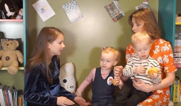 Елена Кравец с детьми и Женя Жигалина