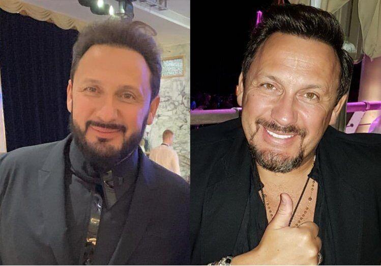 Михайлов в 2017 році (праворуч) і на банкеті в 2019