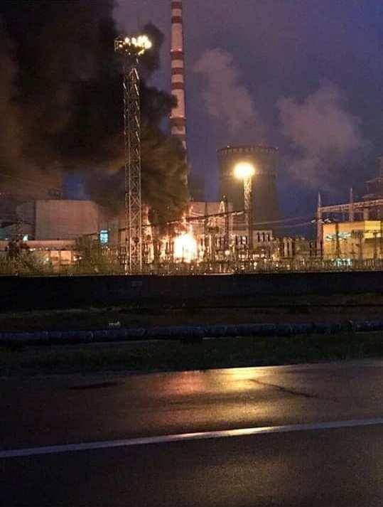 На Ривненской АЭС вспыхнул крупный пожар