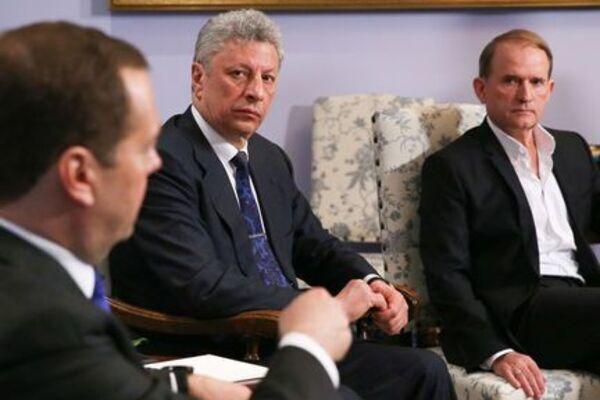Бойко и Медведчук в Москве