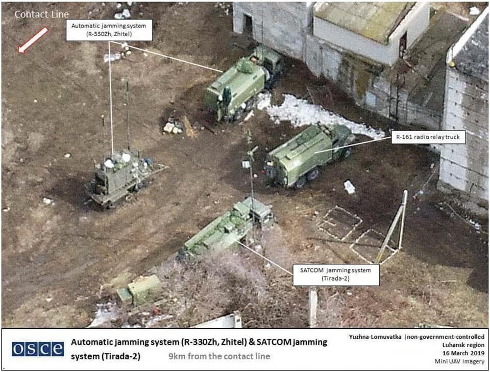 Присутствие российской военной техники на Донбассе