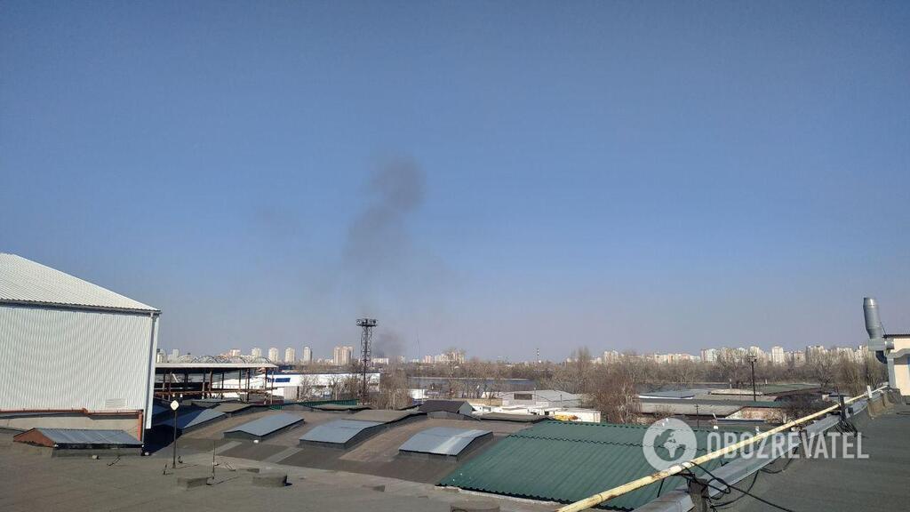 Дым виден за несколько километров