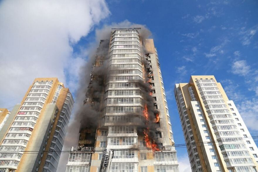 Пожар в Днепре