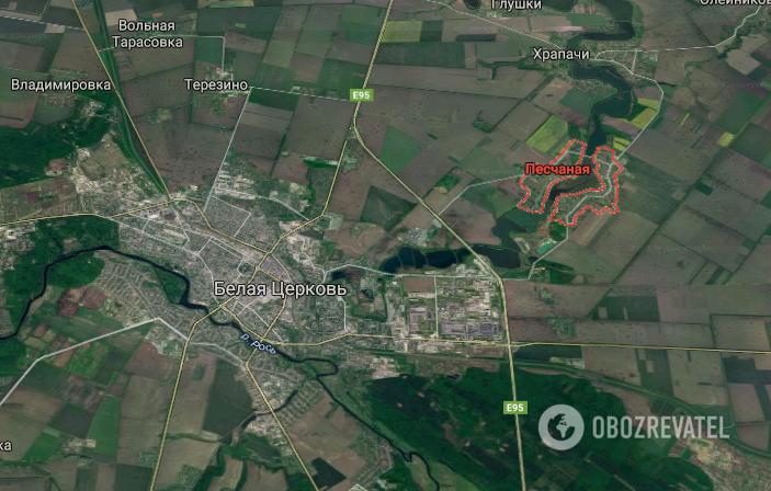 ДТП произошло в с. Песчаная Белоцерковского района