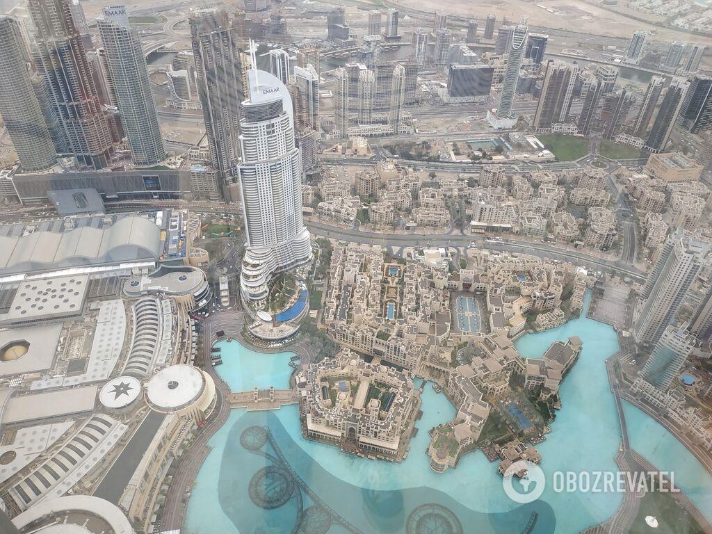 """Вид со 124 этажа башни """"Бурдж-Халифа"""""""