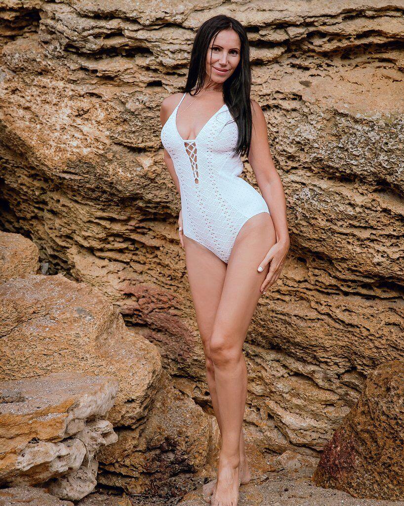 Светлана Гасс в купальнике перед конкурсом