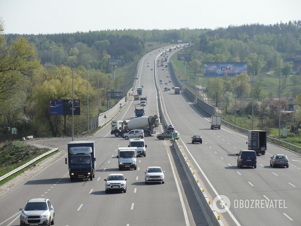 Опасный разворот под Киевом