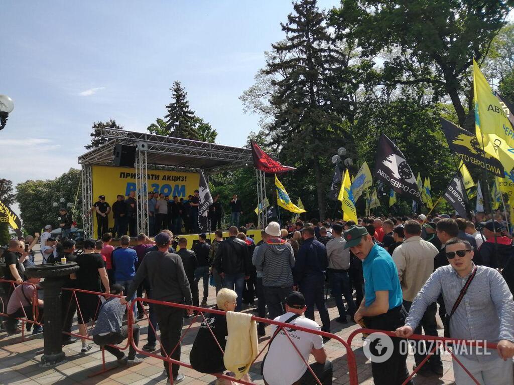 """Протесты """"евробляхеров"""""""