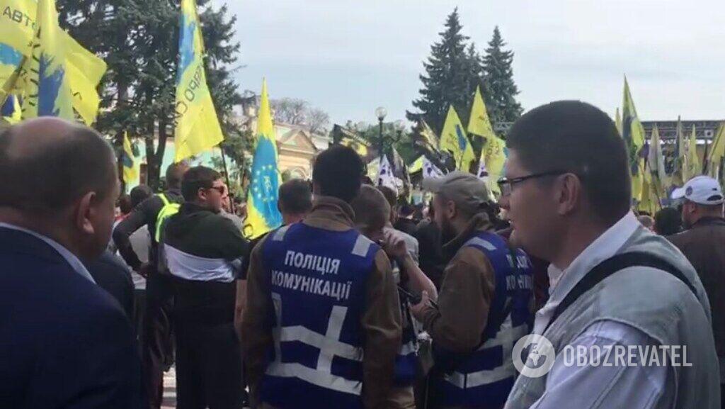 Митинг евробляхеров под ВР
