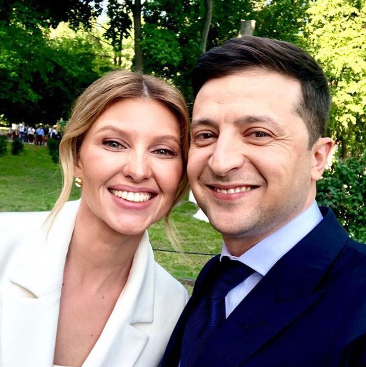 Елена Зеленская на инаугурации президента Украины