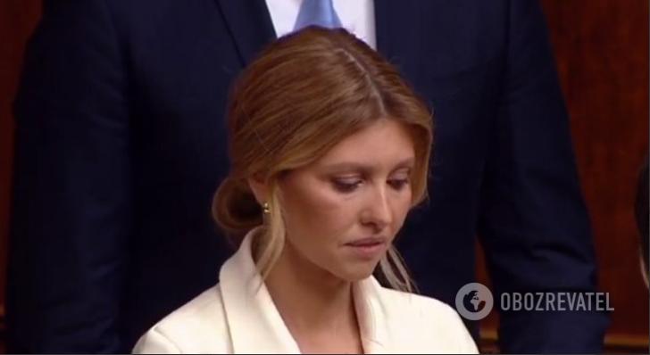 Елена Зеленская на инаугурации Владимира Зеленского