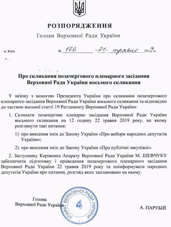 В Україні пройдуть дострокові вибори в Раду: названа дата