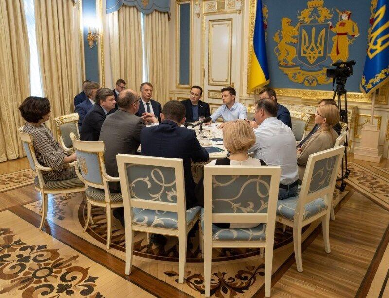 Встреча Зеленского и глав парламентских фракций