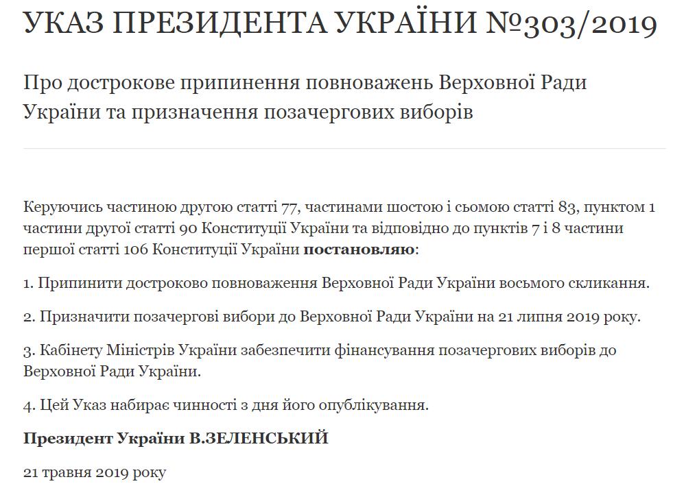 Зеленский распустил Раду и назначил досрочные выборы: подробности