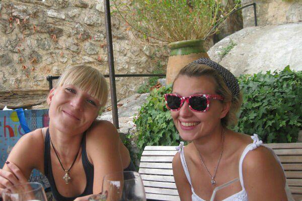 Олена Зеленська з подругою